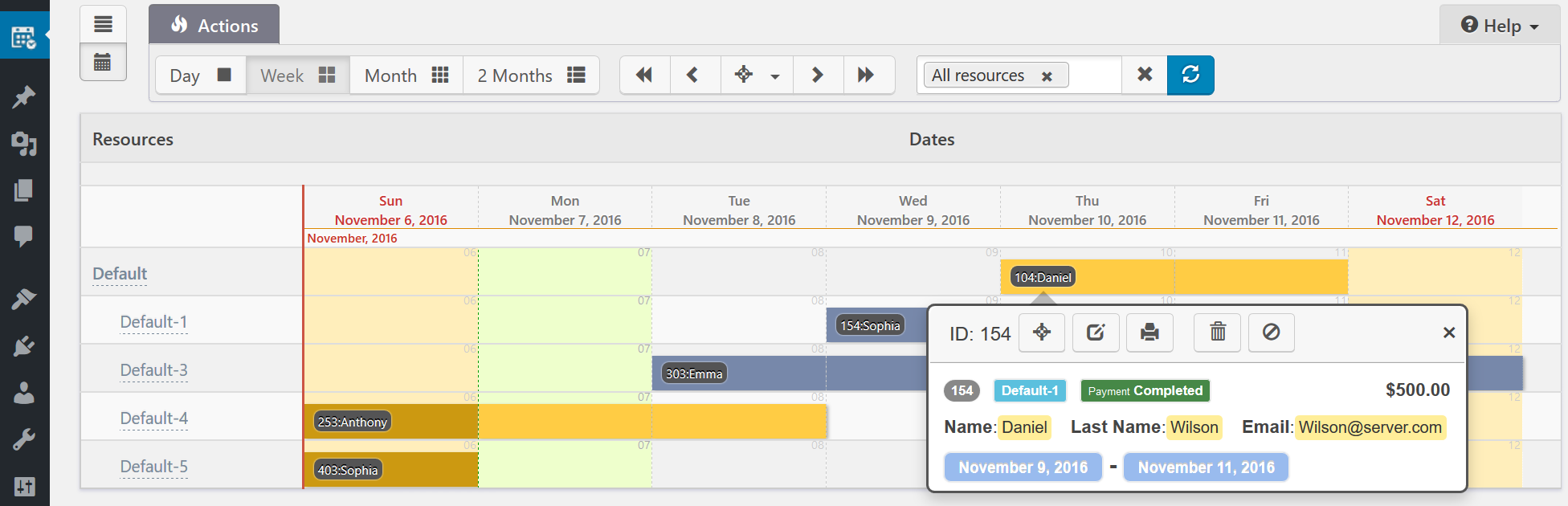 Booking Calendar Business Large